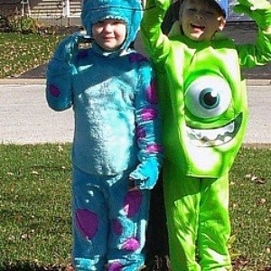 twin halloween costumes - Monsters Inc Baby Halloween Costumes