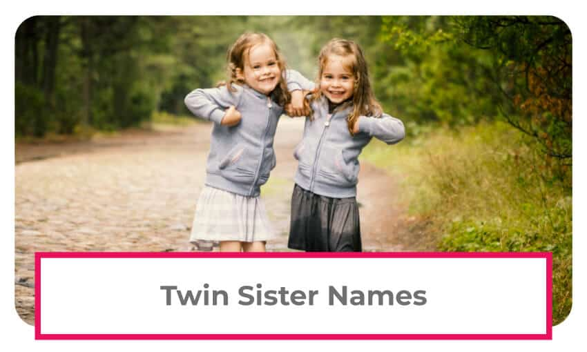 A collection of twin sister names.
