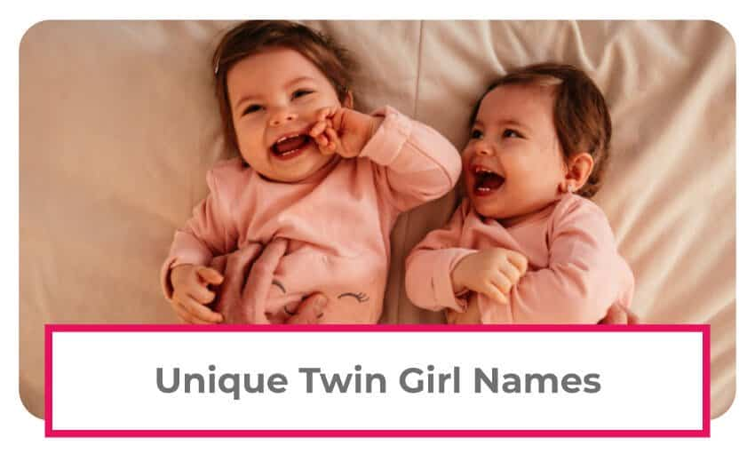 A collection of unique twin girl names.