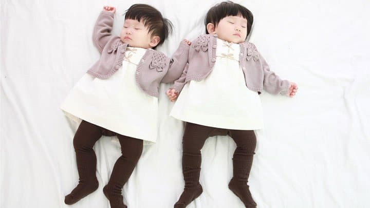 twin infant girls