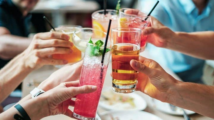 Toasting with alcohol