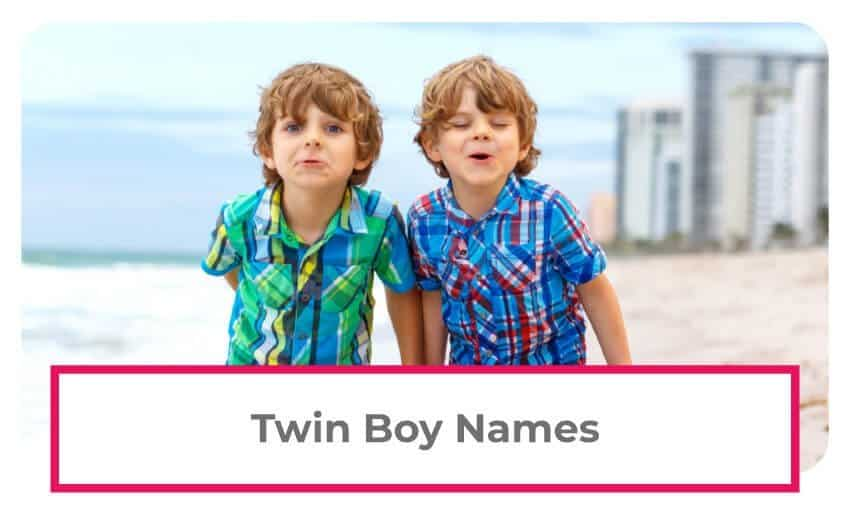 A collection of twin boy names