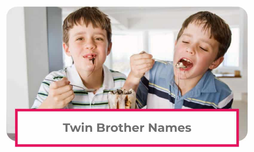 A collection of twin brother names.