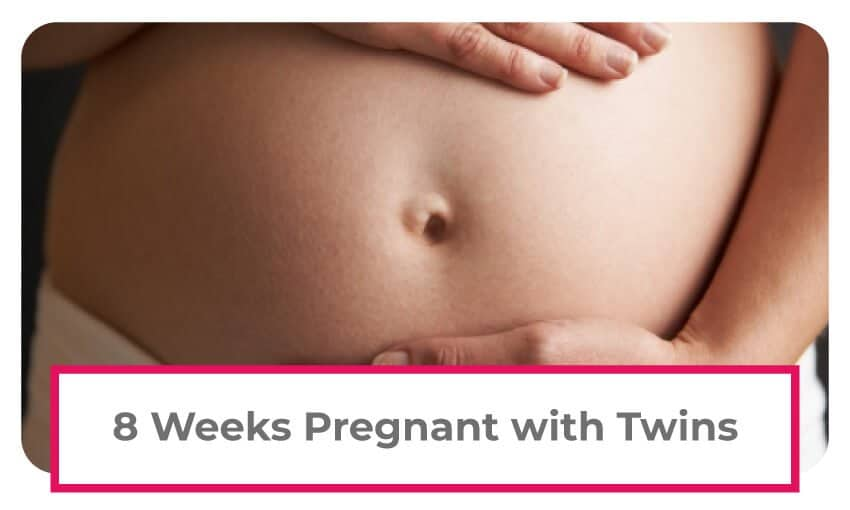 8 Weeks Pregnant With Twins: Belly Pictures, Symptoms