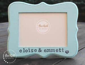 personalized photo frame for twins