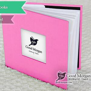 pink twin baby memory book