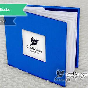 twin baby memory book blue