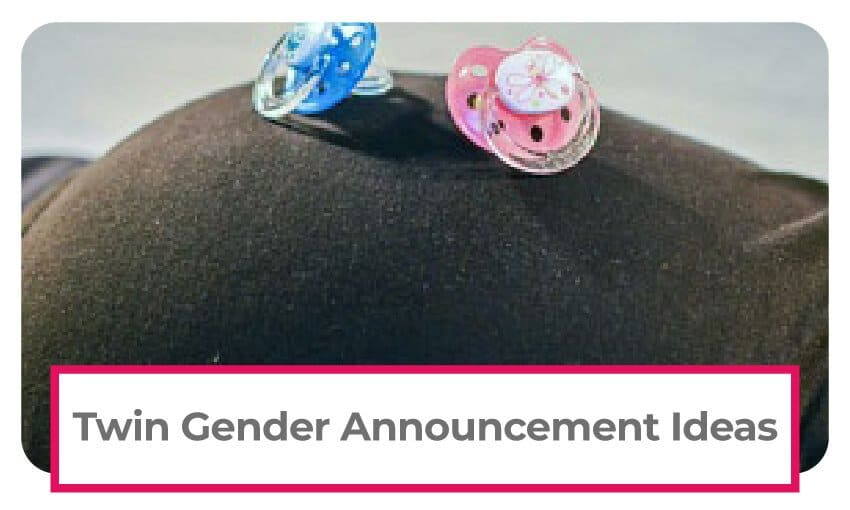 A collection of twin gender announcement ideas.