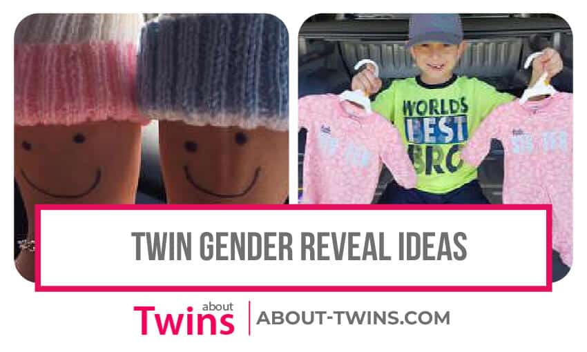 A collection of twin gender reveal ideas.