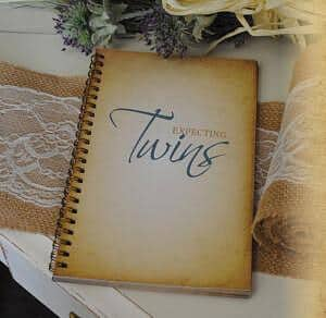 Vintage twin pregnancy journal book