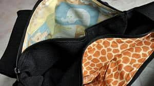 Inside of diaper bag by Joanna Stanek
