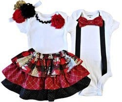 Christmas outfits for boy-girl twins