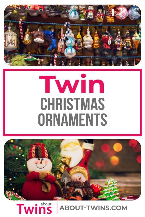 A collection of twin Christmas ornaments.