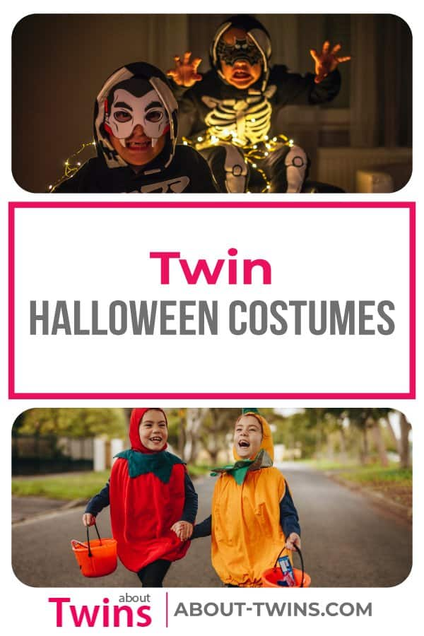 A collection of twin halloween costumes. Great for newborn, toddlers, and up.